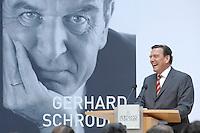 """26 OCT 2006, BERLIN/GERMANY:<br /> Gerhard Schroeder, SPD, Bundeskanzler a.D., waehrend einer Pressekonferenz zur Vorstellung seines Buches """"Entscheidungen. Mein Leben in der Politik"""", Willy-Brandt-Haus<br /> IMAGE: 20061026-01-034<br /> KEYWORDS: Gerhard Schröder, Autobiografie, Biografie, Buch"""