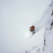 Chris Cook going large in the Old Man's area of East Vail.