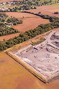 Aerial photograph of Malvern, Mills County, Iowa, USA.