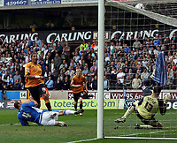 Photo: Paul Thomas.<br /> Wolverhampton Wanderers v Birmingham City. Coca Cola Championship. 22/04/2007.<br /> <br /> Jay Bothroyd (10) of Wolves puts this great scoring chance from in-front of goal over the cross bar.