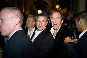PETER SOROS; HUGO RITTSON-THOMAS, Henry Moore Exhibition. Hauser and Wirth. 15 Old Bond St. and afterwards dinner at the Burlington arcade. 14 October 2008 *** Local Caption *** -DO NOT ARCHIVE -Copyright Photograph by Dafydd Jones. 248 Clapham Rd. London SW9 0PZ. Tel 0207 820 0771. www.dafjones.com