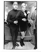 Tamberlaine Gorst and Lady Liza Campbell. Opening Blains Fine Art. London. 3 Dec. 1997. © Copyright Photograph by Dafydd Jones 66 Stockwell Park Rd. London SW9 0DA Tel 020 7733 0108 www.dafjones.com