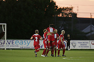 2011 FIFA Women's World Cup Qualifying match, Wales v Czech Republic at Stebonheath Park, Llanelli on Wed 23rd September 2009. pic by Andrew Orchard..Wales celebrate their 1st goal