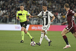 May 3, 2019 - Turin, Piedmont, Italy - Leonardo Spinazzola (Juventus FC) during the Serie A football match between Juventus FC and Torino FC at Allianz Stadium on May 03, 2019 in Turin, Italy..Final results: 1-1. (Credit Image: © Massimiliano Ferraro/NurPhoto via ZUMA Press)