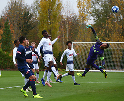 November 6, 2018 - London, England, United Kingdom - Enfield, UK. 06 November, 2018.Brandon Austin of Tottenham Hotspur (Purple).during UEFA Youth League match between Tottenham Hotspur and PSV Eindhoven at Hotspur Way, Enfield. (Credit Image: © Action Foto Sport/NurPhoto via ZUMA Press)