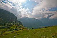 Golzern, Switzerland - view across the mountains from Golzern.