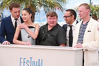 Vladimir Vdovichenkov, Yelena Lyadova, Roman Madyanov, director Andrey Zvyagintsev and Aleksey Serebryakov at the photo call for the film Leviathan at the 67th Cannes Film Festival, Friday 23rd May 2014, Cannes, France.