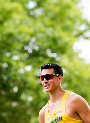 August 11, 2018 - Berlin, GERMANY - 180811 Perseus KarlstrÅ¡m of Sweden competes in the men's 20 km race walk final during the European Athletics Championships on August 11, 2018 in Berlin..Photo: Vegard Wivestad GrÂ¿tt / BILDBYRN / kod VG / 170204 (Credit Image: © Vegard Wivestad Gr¯Tt/Bildbyran via ZUMA Press)