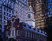 Old State House, built in 1713 and the seat of colonial government, Boston National Historical Park, Boston, Massachusetts.