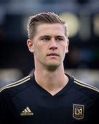 LAFC defender Walker Zimmerman (25) before a MLS soccer match against the Sporting KC in Los Angeles, Sunday, March 3, 2019. LAFC defeated Sporting KC, 2-1. (Ed Ruvalcaba/Image of Sport)