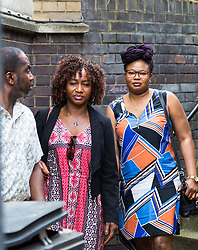 Vida Kwotuah, mother of Alexia Walenkaki who was using a rope swing in Mile End Park when the rotting log supporting it fell and crushed her, is pictured outside St Pancras Coroner's Court following the inquest into her daughter's death on July 17th 2015. London, May 08 2018.