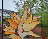 Cut glass tulip window. Tulip festival at Keukenhof Gardens in Lisse, Netherlands. Image taken with a Nikon D4 camera and 14-24 mm f/2.8 lens.