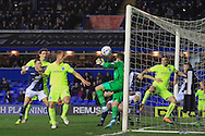 goalkeeper Tomasz Kuszczak of Birmingham City (C) in action.<br /> Sky Bet Football League Championship match, Birmingham City v Brighton & Hove Albion at St.Andrew's Stadium in Birmingham, the Midlands on Tuesday 5th April 2016.<br /> Pic by Ian Smith, Andrew Orchard Sports Photography.