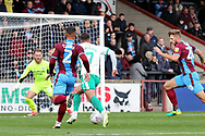 Plymouth Argyll midfielder Antoni Sarcevic (7) is through on goal during the EFL Sky Bet League 1 match between Scunthorpe United and Plymouth Argyle at Glanford Park, Scunthorpe, England on 27 October 2018. Pic Mick Atkins