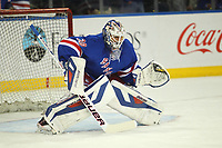 May 29 2014 New York Rangers Goalie Henrik Lundqvist 30  Prior to The Start of Game 6 of The Eastern Conference Finals between The Montreal Canadiens and The New York Rangers AT Madison Square Garden in New York NY NHL Ice hockey men USA May 29 Eastern Conference Final Canadiens AT Rangers Game 6 <br /> Norway only