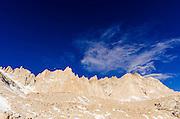 The Sierra crest from the Mount Whitney trail, John Muir Wilderness, California USA
