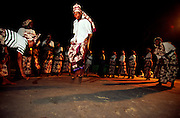 Women group performs tufo, Ilha de Mozambique traditional dance.