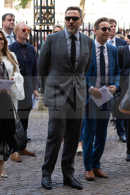 © Licensed to London News Pictures. 15/06/2018. London, UK.  David Williams attends the memorial service for Professor Stephen Hawkin at Westminister Abbey. Photo credit: Ray Tang/LNP