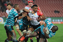 South Africa - Johannesburg, Emirates Airlines Park. 24/08/18  Currie Cup. Lions vs Griquas. Griquas Khwezi Mkhafu carries the ball through a tackle.  <br /> 2nd half.  Picture: Karen Sandison/African News Agency(ANA)