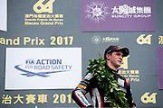 Joel ERIKSSON, Motopark with VEB, Dallara Volkswagen, 64th Macau Grand Prix. 15-19.11.2017.<br /> Suncity Group Formula 3 Macau Grand Prix - FIA F3 World Cup<br /> Macau Copyright Free Image for editorial use only