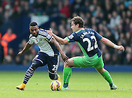 Stephane Sessegnon of West Bromwich Albion turns Daryl Janmaat of Newcastle United  - Barclays Premier League - WBA vs Newcastle Utd - Hawthorns Stadium - West Bromwich - England - 9th November 2014  - Picture Simon Bellis/Sportimage