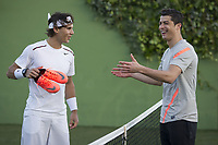 20120328: MADRID, SPAIN - Football player Cristiano Ronaldo versus tennis player Rafael Nadal during a promotional photoshoot for Nike boots<br /> PHOTO: CITYFILES