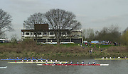 London, Great Britain, General views from the Barnes Rail Bridge/Chiswick Boathouse area at the 2002 Head of the River Race Championship Course Chiswick [Mortlake] to Putney. River Thames. Saturday, [Mandatory Credit. Peter SPURRIER/Intersport Images. 20020323. Head of the River Race, London. UK.