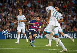September 18, 2018 - Barcelona, Spain - Leo Messi during the match between FC Barcelona and PSV Eindhoven, corresponding to the week 1 of the group stage of the UEFA Champions Leage, played at the Camp Nou Stadium, on 18th September, 2018, in Barcelona, Spain. (Credit Image: © Urbanandsport/NurPhoto/ZUMA Press)