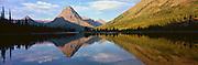 Sunrise on Two Medicine Lake in Glacier National Park, Montana