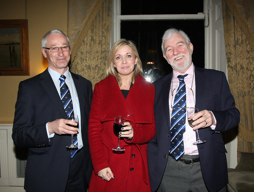Hal Fitzgereald, Commodore Wicklow Sailing Club  Patricia Greene from Volvo Car  Ireland, Theo Phelan Race Organiser Wicklow Sailing Club, were at the at the launch of 18th Volvo 2016 Round Ireland Yacht Race which was held in the Royal Irish Yacht Club.<br />Photo Ann Egan