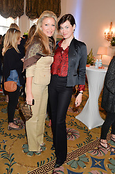 Left to right, CAPRICE BOURRET and JASMINE GUINNESS at a breakfast hosted by Zita West and Leo Bamford to launch a range of vitamins for babies & children held at the Royal Society of Medicine, Chandos House, 2 Queen Anne Street, London on 21st May 2015.
