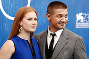 VENEZIA - <br /> <br /> Jeremy Renner and Amy Adams met with the press at the Venice Film Festival where it was presented today at the Venice Film Festival<br /> ©Exclusivepix Media