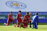 Football - 2020 / 2021 Premier League - Leicester City vs Liverpool - King Power Stadium<br /> <br /> Liverpool's Mohamed Salah looks around as players take the knee.<br /> <br /> COLORSPORT/ASHLEY WESTERN