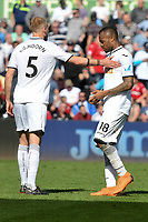 Football - 2017 / 2018 Premier League - Swansea City vs. Stoke City<br /> <br /> Jordan Ayew of Swansea City looks sad as Swansea lose & are relegated, at The Liberty Stadium.<br /> <br /> COLORSPORT/WINSTON BYNORTH