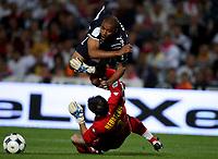 Fotball<br /> Frankrike<br /> Foto: Dppi/Digitalsport<br /> NORWAY ONLY<br /> <br /> FOOTBALL - FRENCH CHAMPIONSHIP 2008/2009 - L1 - GIRONDINS BORDEAUX v FC NANTES - 24/08/2008 -  DAVID BELLION (BOR) / TONY HEURTEBIS (NA)