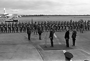 26/06/1963 - President John F. Kennedy lands at Dublin Airport where he was was greeted by President Éamon de Valera and Taoiseach Seán Lemass.