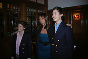 Jasper von Bismarck, ( younger pink shirt) Countess Debonaire von Bismarck and Tassilo von Bismarck. Countess Debonaire von Bismarck and Rocco Forte. Olga Polizzi and Rocco Forte host a party to celebrate the re-opening of Brown's Hotel  after a  £19 million renovation. Albermarle St. London. 12 December 2005. ONE TIME USE ONLY - DO NOT ARCHIVE  © Copyright Photograph by Dafydd Jones 66 Stockwell Park Rd. London SW9 0DA Tel 020 7733 0108 www.dafjones.com