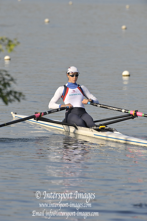 Caversham, Great Britainn - GBR W1X, Lindsey MAGUIRE, Morning training, Redgrave Pinsent Rowing Lake. GB Rowing Training Centre. WED 29.04.2009  [Mandatory Credit. Peter Spurrier/Intersport Images]
