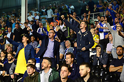 Bristol Rovers fans cheer on their team during the Carabao cup game against Fulham - Mandatory by-line: Dougie Allward/JMP - 22/08/2017 - FOOTBALL - Craven Cottage - Fulham, England - Fulham v Bristol Rovers - Carabao Cup
