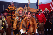 Couple at Fur Rondy, Anchorage, Alaska, (editorial use only, no model release)<br />