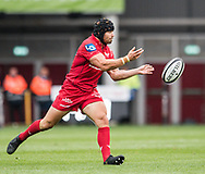 Scarlets' Leigh Halfpenny in action during todays match.<br /> Guinness Pro14 rugby match, Scarlets v Southern Kings at the Parc y Scarlets in Llanelli, Carms, Wales on Saturday 2nd September 2017.<br /> pic by Craig Thomas, Andrew Orchard sports photography.