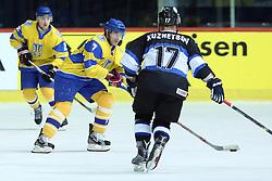 20.04.2016, Dom Sportova, Zagreb, CRO, IIHF WM, Ukraine vs Estland, Division I, Gruppe B, im Bild Oleg Shafarenko // during the 2016 IIHF Ice Hockey World Championship, Division I, Group B, match between Ukraine and Estonia at the Dom Sportova in Zagreb, Croatia on 2016/04/20. EXPA Pictures © 2016, PhotoCredit: EXPA/ Pixsell/ Goran Stanzl<br /> <br /> *****ATTENTION - for AUT, SLO, SUI, SWE, ITA, FRA only*****