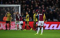 Football - 2018 / 2019 Premier League - West Ham United vs. Watford <br /> <br /> West Ham United's Arthur Masuaku dejected as Michail Antonio hits the crossbar, at The London Stadium.<br /> <br /> COLORSPORT/ASHLEY WESTERN