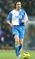 Fotball<br /> Premier League England 2004/2005<br /> 21.11.2004<br /> Foto: SBI/Digitalsport<br /> NORWAY ONLY<br /> <br /> Blackburn v Birmingham<br /> Barclays Premiership. 21/11/2004. <br /> <br /> Nils-Eric Johansson of Blackburn Rovers.