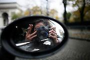 Friday November 7th 2008. Paris, France..In a car.Avenue Foch - 16th Arrondissement.