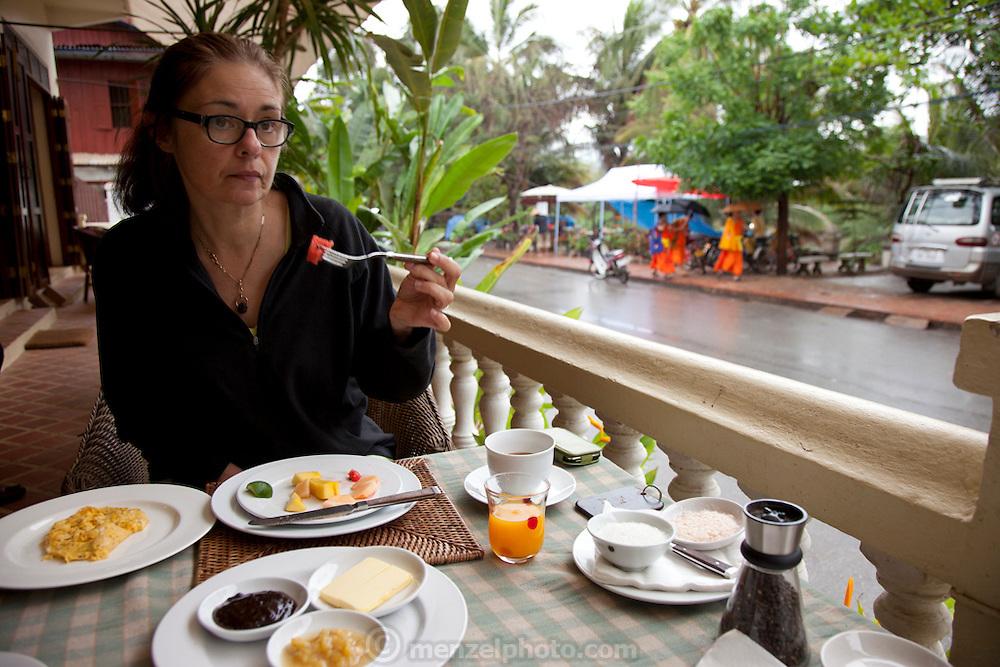 Luang Prabang, Laos. Apsara guest house breakfast.