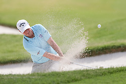 May 25, 2018 - Forth Worth, TX, U.S. - FORT WORTH, TX - MAY 25: Brian Stuard hits out of the #18 green side bunker during the second round of the Fort Worth Invitational on May 25, 2018 at Colonial Country Club in Fort Worth, TX. (Photo by Andrew Dieb/Icon Sportswire) (Credit Image: © Andrew Dieb/Icon SMI via ZUMA Press)