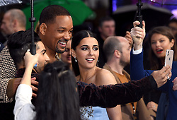 Will Smith and Naomi Scott attending the Aladdin European Premiere held at the ODEON Luxe Leicester Square, London
