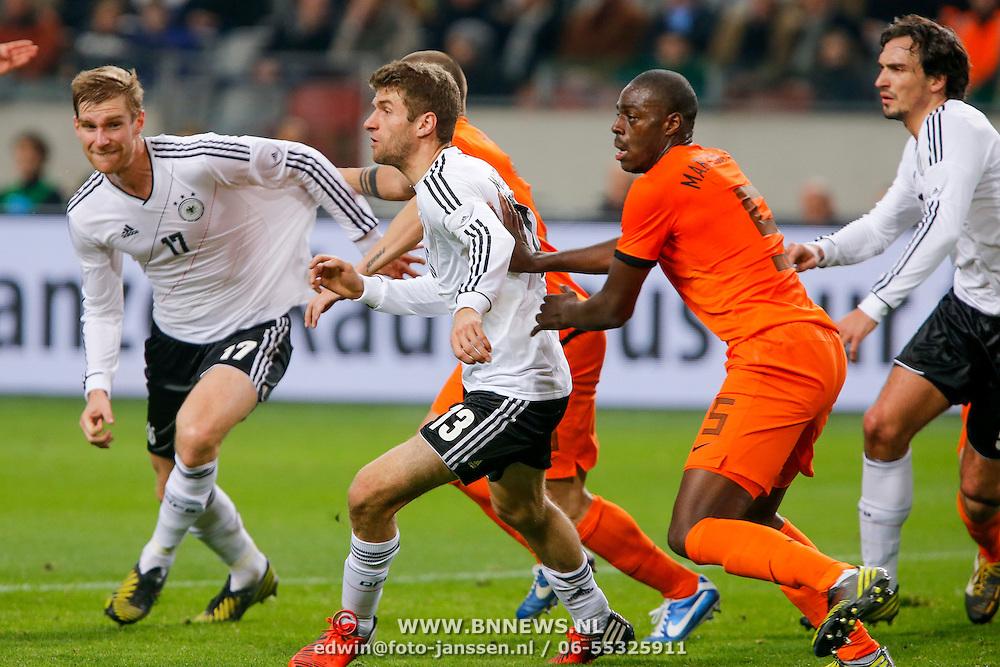 NLD/Amsterdam/20121114 - Vriendschappelijk duel Nederland - Duitsland, Per Mertesacker, Bruno Martins Indi en Thomas Muller