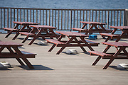 benches at the waterside